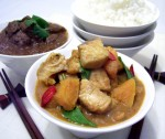 Pumpkin and fish curry