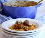 Spaghettini with meatballs