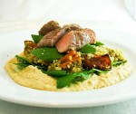 Lamb with quinoa and roast pumpkin