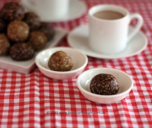 Chocolate chia bliss balls