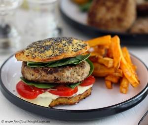 Paleo Spiced lamb burger
