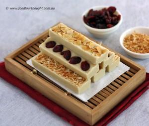 Honey almond no bake bars